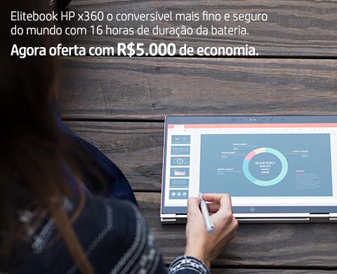 Notebook Elite HP x360 com R$5.000OFF