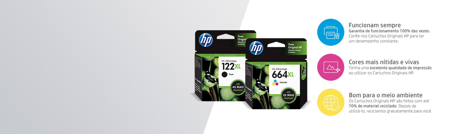 Não fique sem tinta! Escolha os Cartuchos HP XL